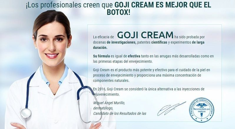 goji cream chile comentarios